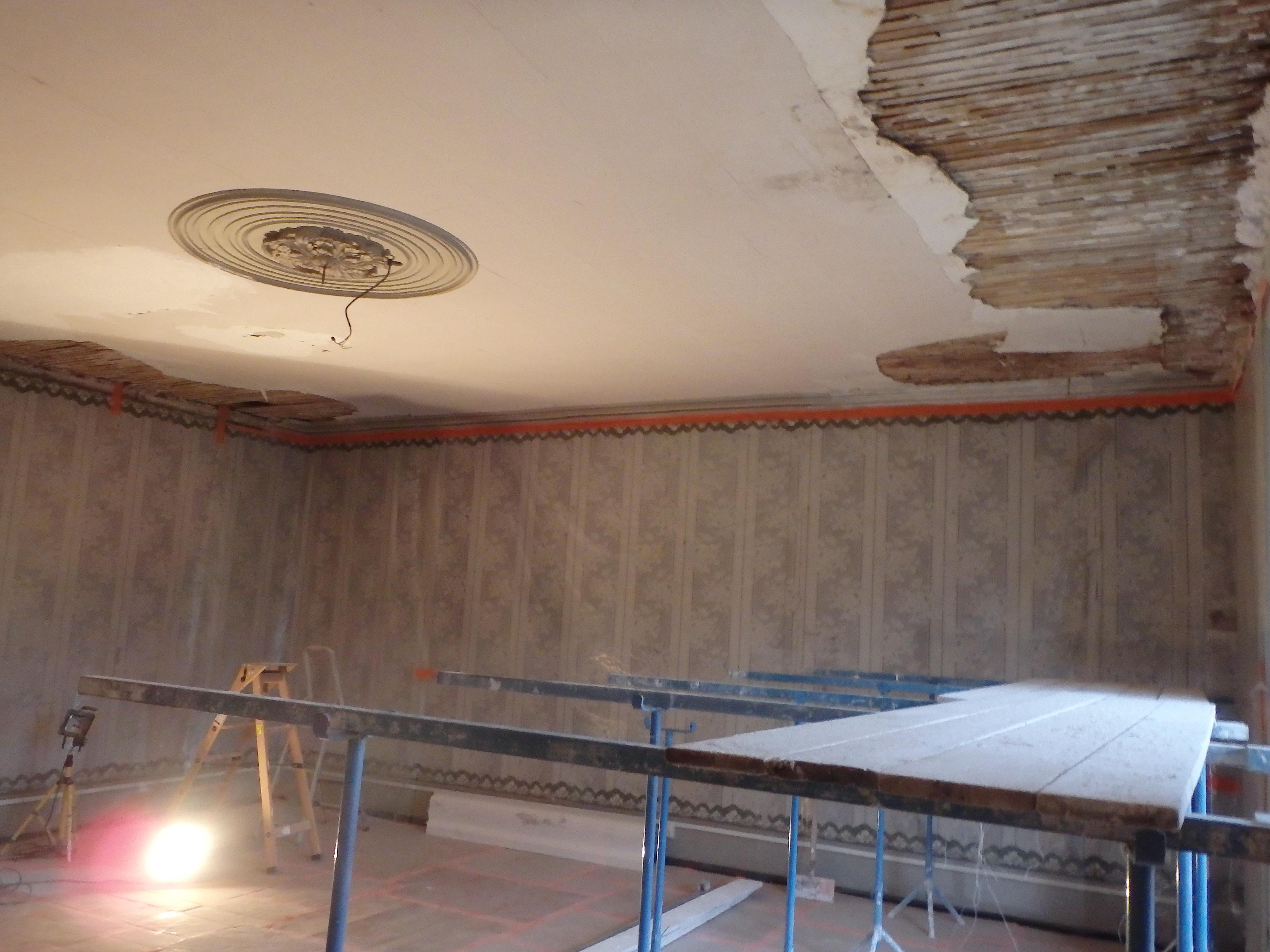 Rigueur Plâtre Restauration D Un Plafond Sur Lattis